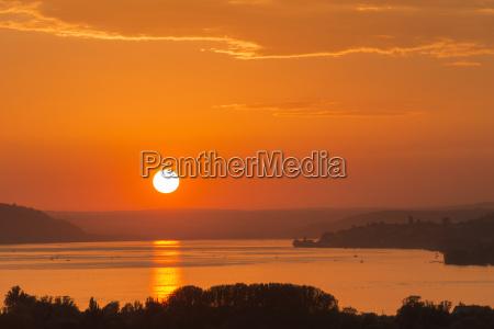 germany baden wurttenberg lake constance sunset