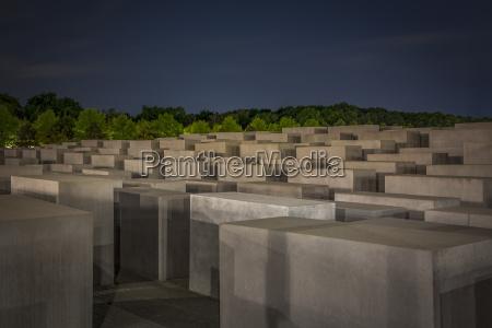germany berlin holocaust memorial at night