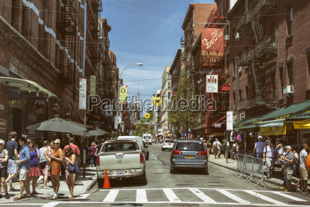 usa new york city strassenleben in