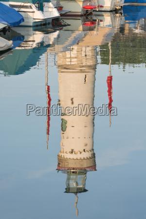 germany bavaria lindau lighthose at lake