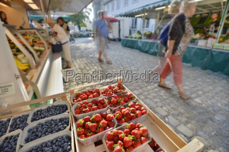 germany bavaria lindau fruit stalls at