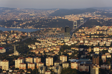 europe turkey istanbul view of financial