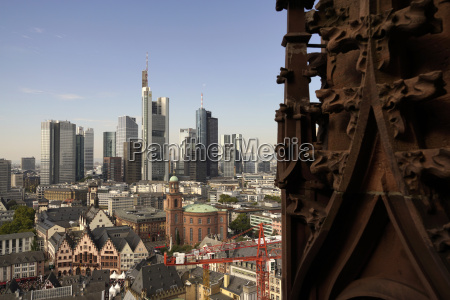 germany frankfurt cityscape with financial district