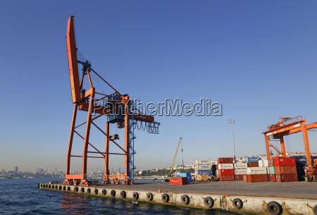 turkey istanbul view of haydarpasa harbour