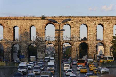 turkey istanbul view of valens aqueduct