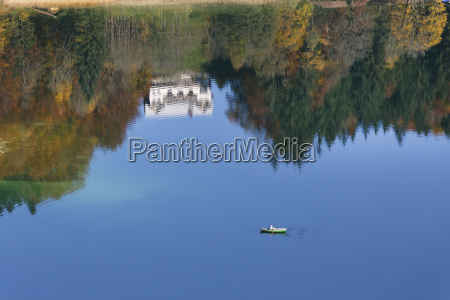 germany bavaria view of boat in