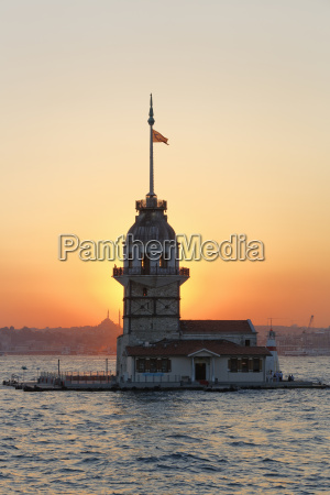 turkey istanbul view of maidens tower