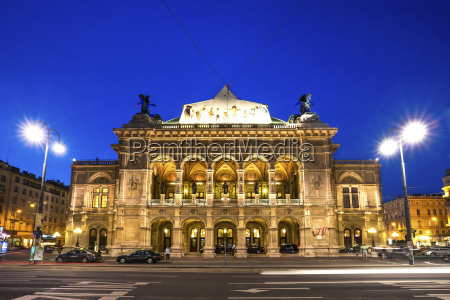 austria vienna opera house at blue