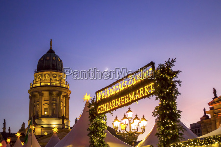 germany berlin christmas market at gendarmenmarkt