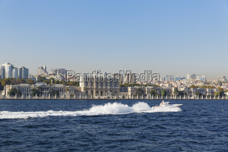 turkey istanbul view of dolmabahce palace