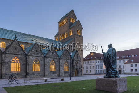 germany hildesheim cathedral with bernward monument