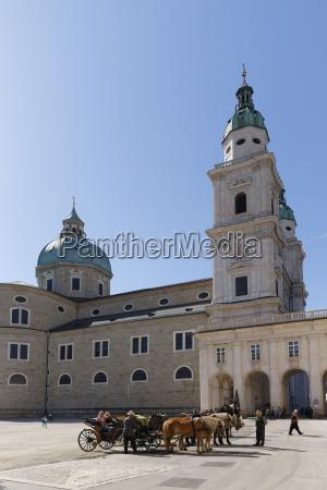 austria salzburg view of salzburg cathedral