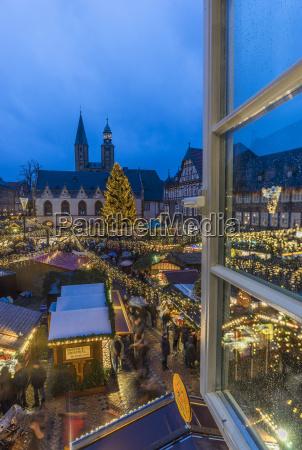 germany lower saxony goslar view to