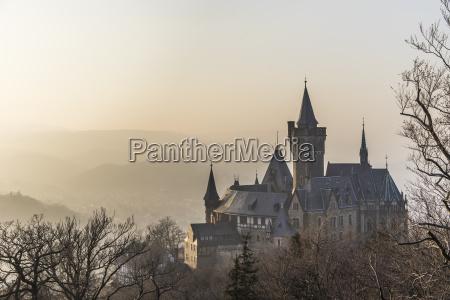 germany saxony anhalt wernigerode castle and