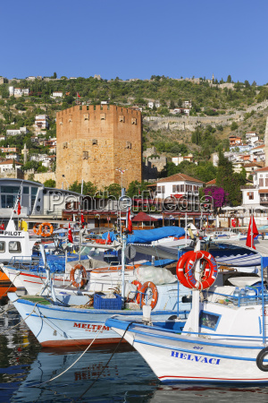 turkey view of red tower with