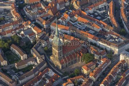 germany hildesheim aerial view of st