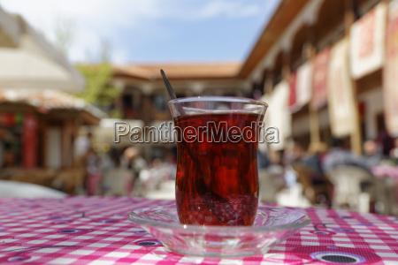 turkey muglaturkish tea on table