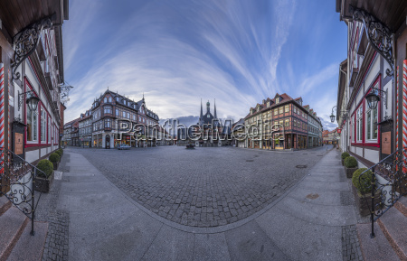 germany wernigerode panorama of market square