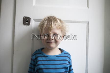 portrait of smiling little boy in