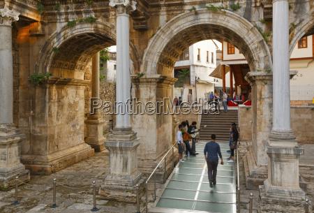 turkey antalya arch of hadrian in