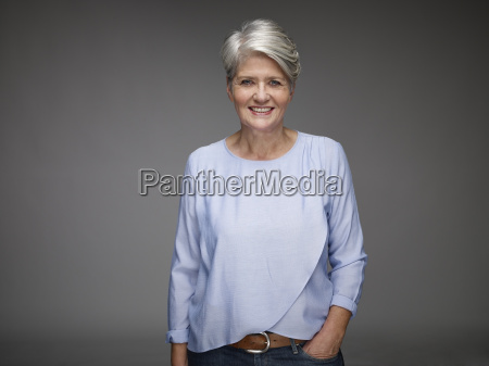 portrait of mature woman with grey