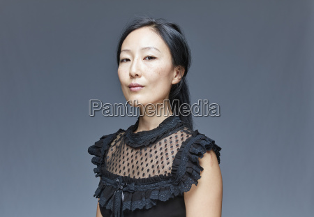 portrait of self confident woman in