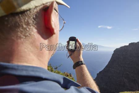 spain canary islands la gomera hiker