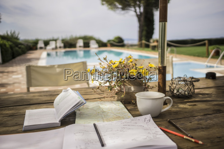 italy tuscany guidebook map and notebook