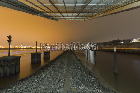 germany hamburg harbor modern architecture at