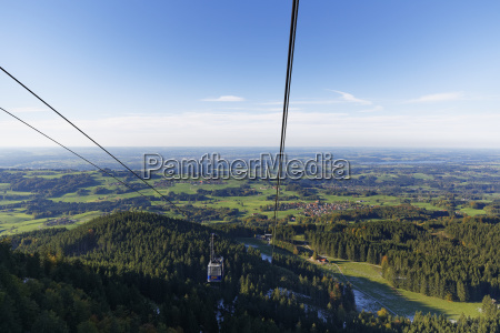 germany bavaria chiemgau hochries cable car