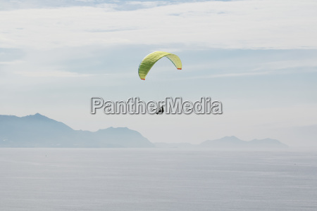 spain basque country getxo paragliding over