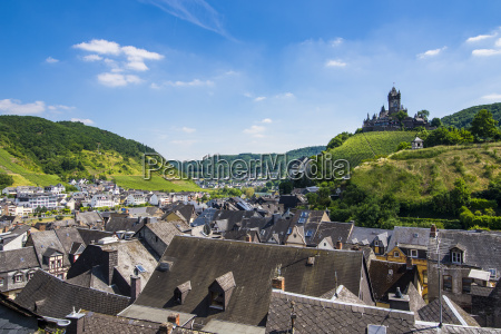 germany rhineland palatinate moselle valley view
