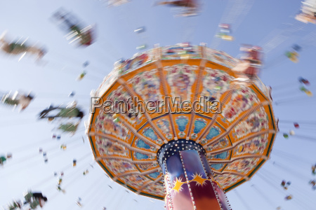 germany bavaria munich carousel spinning on