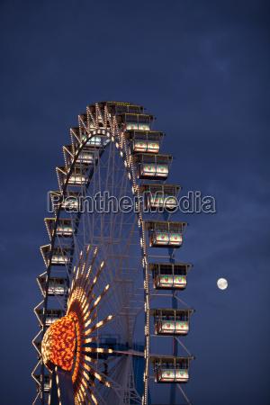 germany bavaria munich ferris wheel at