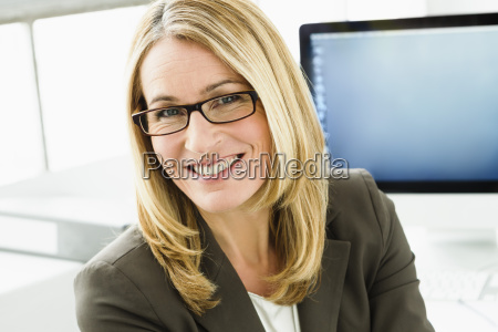 germany portrait of businesswoman smiling