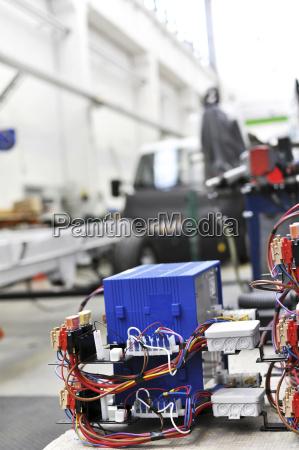 elektronische komponente in einem wohnmobil fabrik