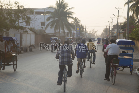 africa madagascar toliara traffic in street