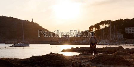 spain mallorca view of boy at