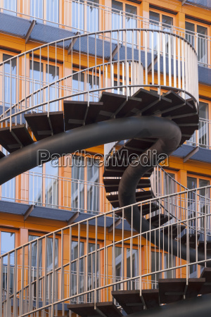 germany munich construction of stairway at