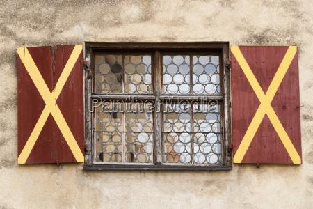 germany window of medival castle burg