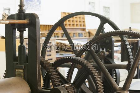 germany bavaria detail of machine part