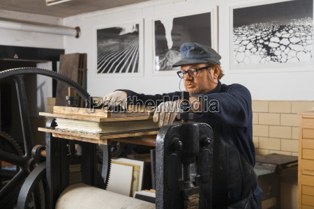 germany bavaria mature man working on
