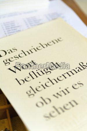 germany bavaria page printed with lead