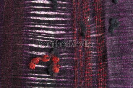 sheeps wool scarf close up