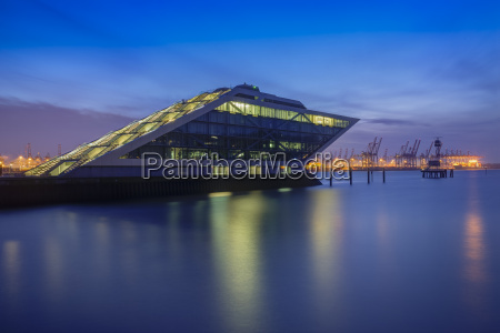 germany hamburg dockland office building in