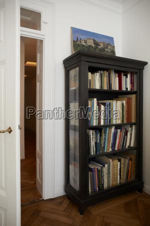 germany interior of house with bookshelf