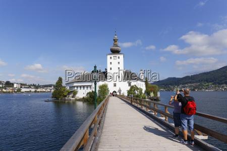 austria upper austria salzkammergut lake traunsee