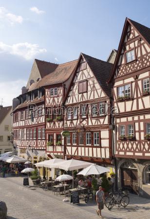 germany bavaria ochsenfurt half timbered houses