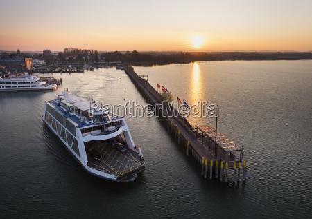 germany friedrichshafen lake constance ferry in
