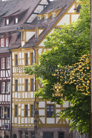 germany bavaria nuremberg old town sebald